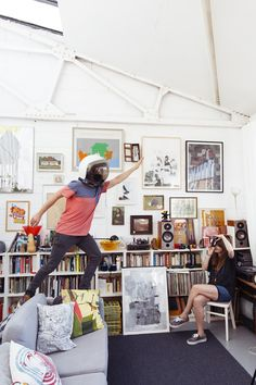 Holly Wales and Stephen Smith - Artists and Illustrators at Home in London