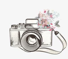 Flower camera PNG and Clipart Camera Png, Digital Camera, Photo Png, Bild Gold, Camera Drawing, Camera Sketches, Camera Wallpaper, Foto Art