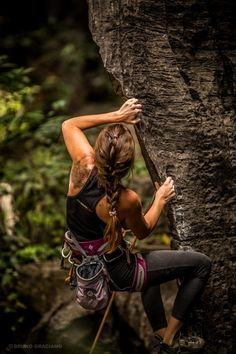 Learn to rock climbing today with Oxbold. the Rock Climbing girl.