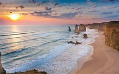 One of the limestone stacks known as the Twelve Apostles, seen by Mary Nightingale and family off Victoria's coast