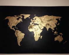 Original World Map Painting A World of Color I by RightGrain