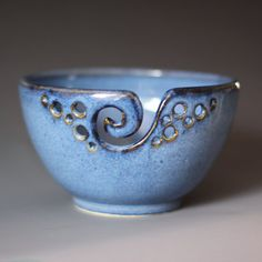 Yarn Bowl / Knitting Bowl / Crochet Bowl / by andersenpottery, $29.00