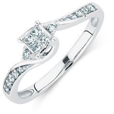 Diamond Promise RIng. 10kt gold #michaelhill