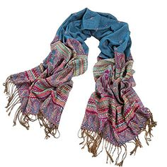 2015 Newest 79 x 28 Large Size Polyester Shawl Wrap Stole Matching A Bohemia Peacock Style Necklace Multicolor to choose -- Continue to the product at the image link.
