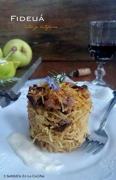 En La CoCiNa: Fideuá de setas y butifarra con allioli de manzana