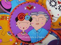 Frida Kahlo y Diego Rivera Diego Rivera, Kids Canvas Art, Pintura Country, Painted Rocks, Princess Peach, Illustration, Crafts, Fictional Characters, Sugar Skulls