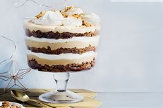 Browse through our collection of gorgeous trifle recipes. Hailing from Britain, the trifle is a much-loved Christmas dessert usually made with sponge soaked in sherry or fruit juice and layered with various combinations of fruit, cream or custard. Christmas Lunch, Christmas Cooking, Christmas Wishes, Christmas Recipes, Christmas Trifle, Christmas Shopping, Aussie Christmas, Christmas Goodies, Christmas Stuff