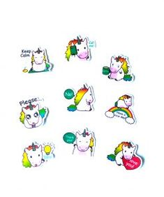 Eenhoorn stickers met leuke teksten, zoal Call me, Keep calm, Coffee Unicorn Stickers, Snoopy, Fictional Characters, School, Kraft Paper, Fantasy Characters