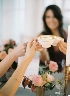 Bridesmaids Tea at Trump Winery  Read more - http://www.stylemepretty.com/2014/03/06/bridesmaids-tea-at-trump-winery/