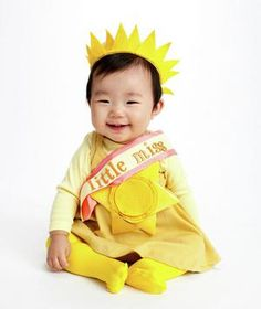Dress up your kids in fun costumes you make with everyday household items. Little Miss Sunshine