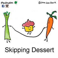 Funny Pun: Skipping Dessert - Food Humor the only way to kip dessert Funny Food Puns, Food Jokes, Punny Puns, Cute Puns, Corny Jokes, Funny Shit, Hilarious, Funny Humour, Funny Stuff