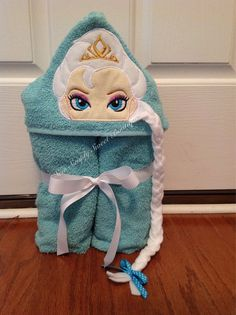 Princess Elsa Frozen inspired Hooded Bath Towel by sewsimplysweet, $30.00