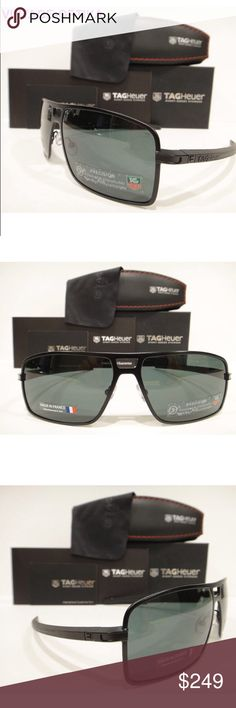 7171044aaf Tag Heuer 0987 Senna Racing Sunglasses 305 Black These are 100% Genuine