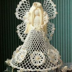 angels crochet | Crochet Seasonal Spirit Angel Tree Topper Pattern plus Bonus ...