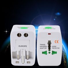Travel Plug Adapters All in 1 Travel Worldwide Universal US UK AU EU Electrical Power Plug Adapter Wall plug Socket Power Socket