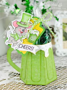Cheers Happy St. Patrick's Day - Trendy Twine Project!  Peachy Keen Stamps, SVG Cutting Files.