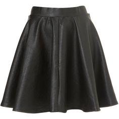 Black Full Skater Skirt ($76) via Polyvore