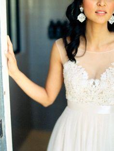 Utilizar telas na parte superior do vestido: tendência. #vestido #noiva #bride #wedding #casamento