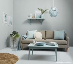 Try painting your living room walls in soft grey/blue Resene Duck Egg Blue then create a tonal sche Duck Egg Living Room, Duck Egg Blue Bedroom, Living Room Lounge, Living Room Grey, Duck Egg Blue And Grey Living Room, Home Living Room, Living Room Decor, Duck Egg Blue Grey, Duck Egg Blue Colour