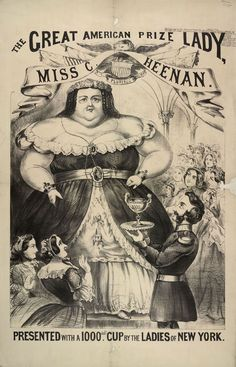 The Great American Prize Lady, 1868; The British Library Board