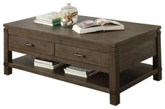 Riverside Furniture Promenade Rectangular Cocktail Table in Warm Cocoa transitional coffee tables