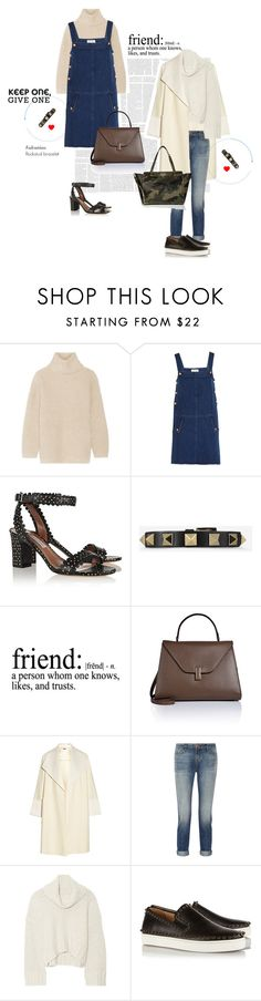 """""""For me and my bestie"""" by dominikaf ❤ liked on Polyvore featuring Helmut Lang, M.i.h Jeans, Tabitha Simmons, Valentino, Valextra, ADAM, J Brand, Donna Karan and Christian Louboutin"""