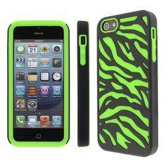 Lime green and black zebra case! So cute!