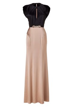 Black/Baileys Embellished Silk Gown by JENNY PACKHAM | Luxury fashion online | STYLEBOP.com