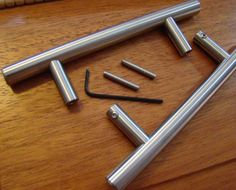 Arthur Harris back to back cabinet pull mounting method - pair of stainless steel pulls for back to back mounting