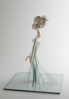 """""""Vesper"""" doll made from Ceramic and Multi Media by Keiko Araki."""