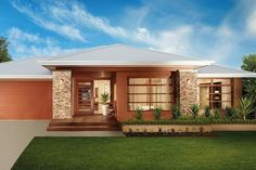 Modern Bungalow House, Modern House Plans, Modern House Design, Bali House, House Design Pictures, Beautiful Small Homes, Storey Homes, Modern Landscaping, Facade House