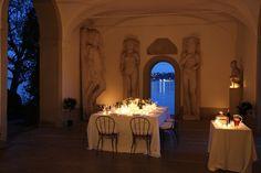 Romantic dining by Lake Garda at Palazzo Martinengo.