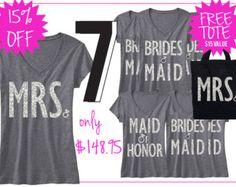 BRIDAL WEDDING 6 SHIRTS 15% Off Bundle Mrs by NobullWomanApparel