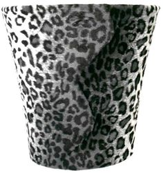 Snow Leopard Waste Can $36.00 offices, leopard wast, leopards, snow leopard, leopard bathroom