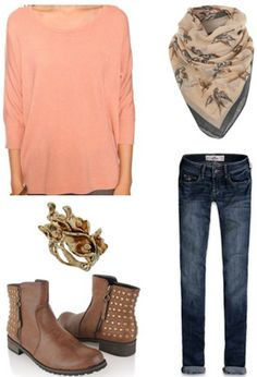 How to wear a pink Forever 21 dolman sweater with skinny jeans and boots