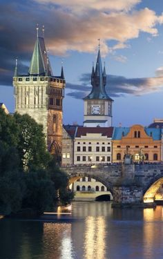 Prague - Prague, City of a Hundred Spires, a UNESCO monument and one of the most beautiful cities in the world. Places Around The World, Oh The Places You'll Go, Travel Around The World, Places To Travel, Budapest, Most Beautiful Cities, Wonderful Places, Prague Czech Republic, Heart Of Europe