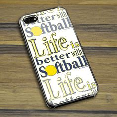 The personalized softball life is better with the Softball iPhone / Galaxy Case - ChalkTalkSports Softball - Softball Memes, Softball Crafts, Softball Players, Girls Softball, Fastpitch Softball, Softball Stuff, Softball Things, Softball Hair, Volleyball Drills