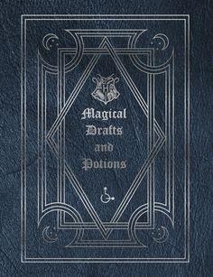 Harry Potter Potion Book Hogwarts Magical Drafts by MuggletonShop