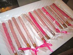 images of baby shower pretzel rods | ... covered pretzel rods: pink baby shower girl chocolate pretzels