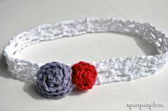 free crochet pattern for a v-stitch headband
