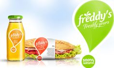 Attractive packaging for Freddy's designed by Ampro Design.