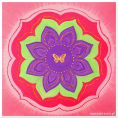 Mandala Szkoły Studium Psychologii Psychotronicznej - malowana na zamówienie