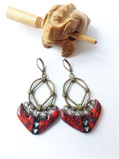 Un Grand Marché   Femmes flamboyantes en Automne · boucles d oreilles  ethniques tribales marbre rouge noir blanc bronze 32f815beef5
