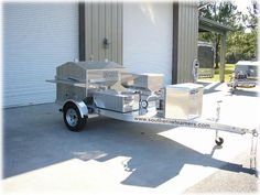 Barbecue trailer grill with optional oyster steamer by SouthernSteamers.com