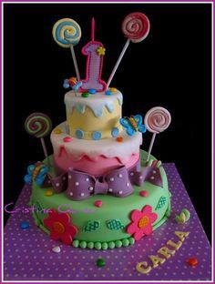 Candy Theme Birthday Cake