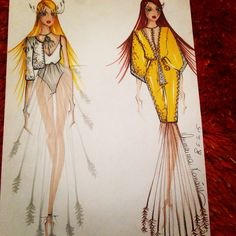 #hippie #fashion #design #sketches #collection