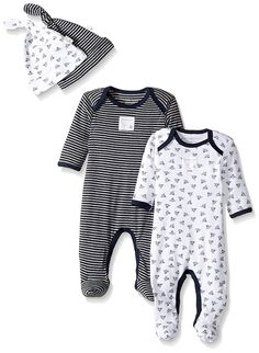 a157e03cb Amazon.com: Burt's Bees Baby Unisex Baby 2-Pack Romper and Hat Sets, One  Piece Jumpsuits, 100% Organic Cotton: Clothing