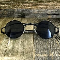 Retro Steampunk Small Round Victorian Vampire Metal Sunglasses