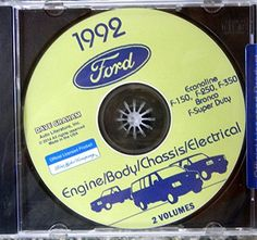 1984 Ford Truck Shop Manual 5 Book Set on CD F150 F250 F350 Bronco Van Service