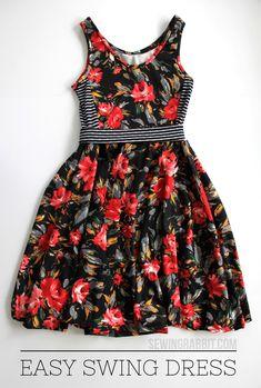 How to make an easy women's swing dress DIY